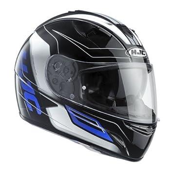 HJC 120602 M Casco Moto, Negro/Azul, ...