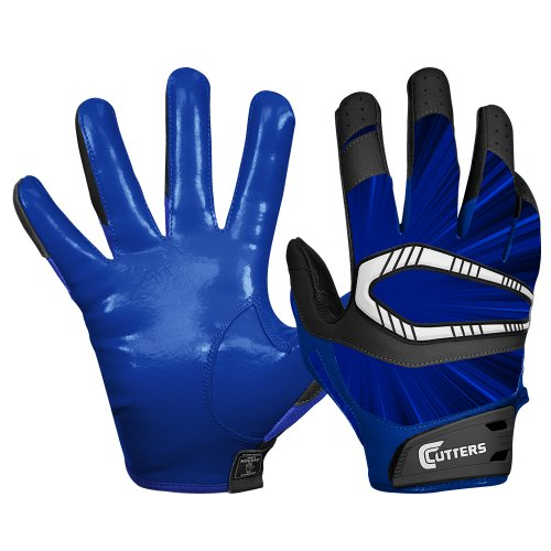 Cutters Gloves REV Pro Receiver Glove (Pair), Royal, X-Large ()