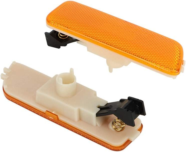 KIMISS 1 Pair Smoked Bumper Marker Side Light Wing Mirror Turn Signal for J ETTA M K4 617215181853 Yellow