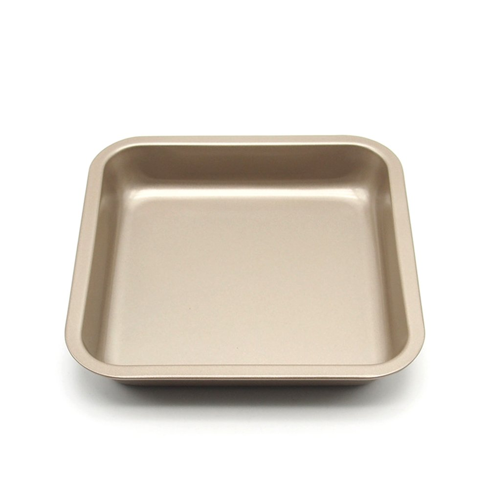 Loaf Pan, MZCH Square Bread Toast Pan, Nonstick Quick Release Coating, 7.5 Inches, Gold