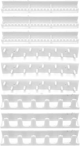 9Pcs Adhesive Jewelry Hooks Wall Mount Storage Holder Organizer Display Stand HY