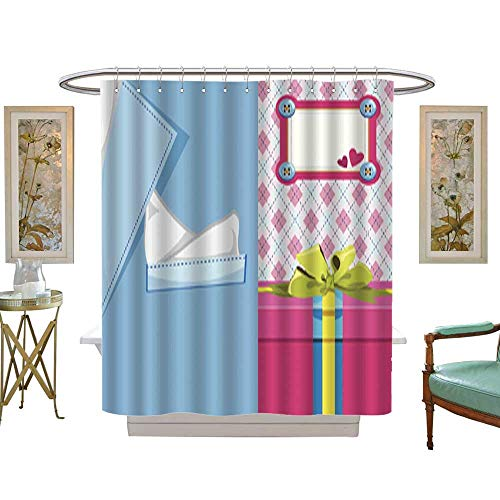 Iuvolux Fabric Shower Curtain Surprise Father s Day. Mildew Resistant Waterproof Standard Shower W48 x H72 Inch