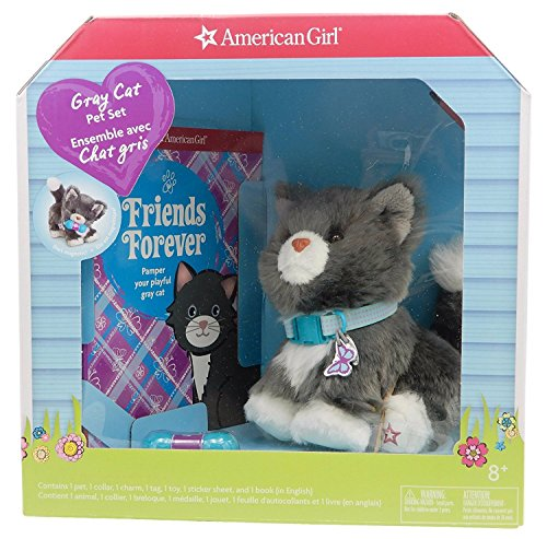 American girl Gray Cat Pet Set