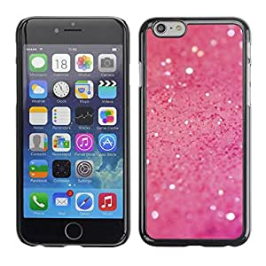 PC/Aluminum Funda Carcasa protectora para Apple Iphone 6 Pink Glitter Shine / JUSTGO PHONE PROTECTOR