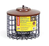 Stokes Select Squirrel Proof Double Suet Bird Feeder with Metal Roof, 10-Inch Diameter, 2 Suet Cake Capacity