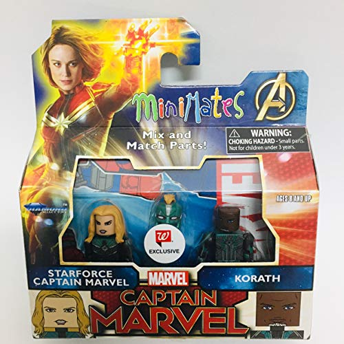 DIAMOND SELECT TOYS Minimates Captain Marvel - Starforce Captain Marvel & Korath Minifigues