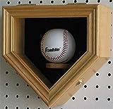 Oak Home Shape Shadow Box For A Autographed Baseball Locks Uv Protection