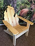 Picwood USA All Natural Traditional Michigan Adirondack Chair with Maximum Smoothness