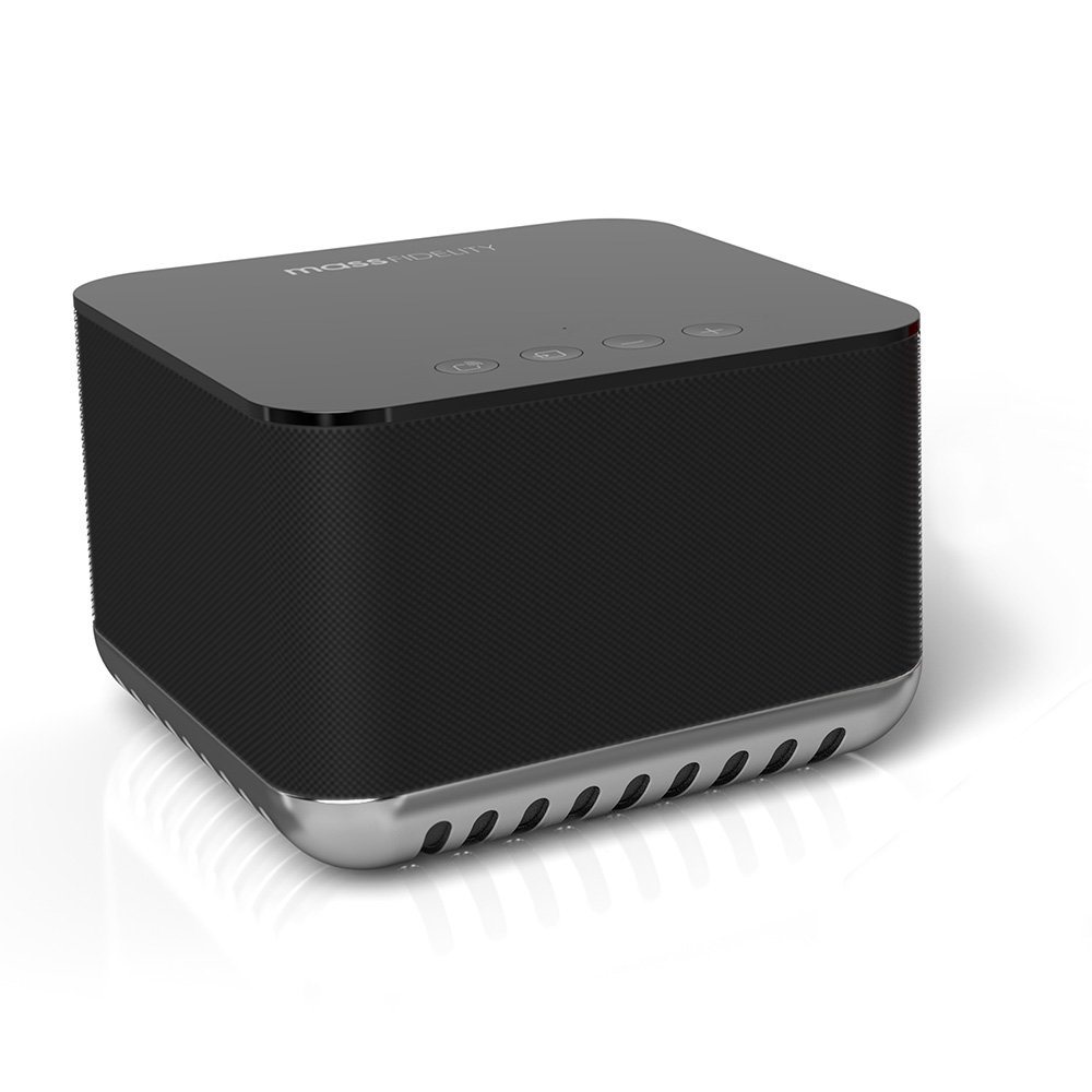 Mass Fidelity Core 120W Portable Hi-Fi Wireless Speaker System in Black with Holographic Sound and iOS/Android Compatibility