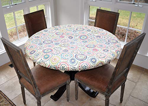 Round Outdoor Tablecloth - Covers For The Home Elastic Edged