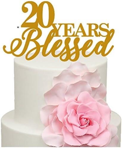 Anniversario Di Matrimonio 51 Anni.20 Anni Blessed Anniversario Di Matrimonio Decorazione Per Torta