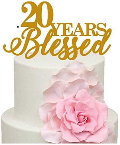 Anniversario Di Matrimonio 20.20 Anni Blessed Anniversario Di Matrimonio Decorazione Per Torta