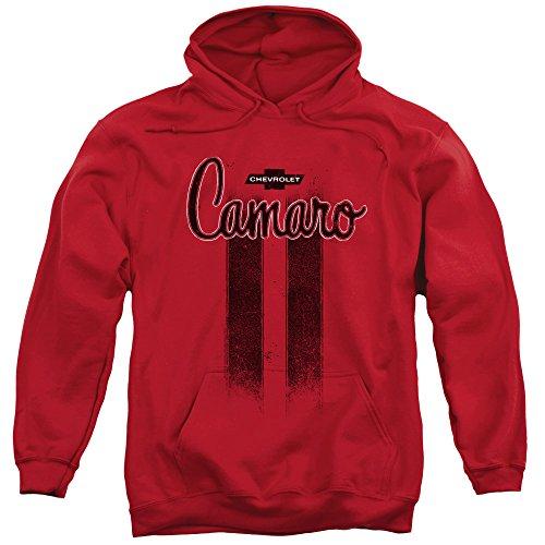 TeeShirtPalace Chevy - Camaro Stripes Red Pull Over Hoodie Sweatshirt