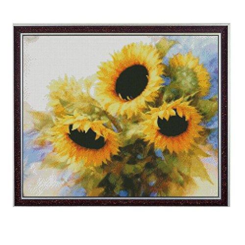 MJH & Arts Brede Sunflower Van Gogh Flower Needlework,Oil Painting (Needlework Kit)