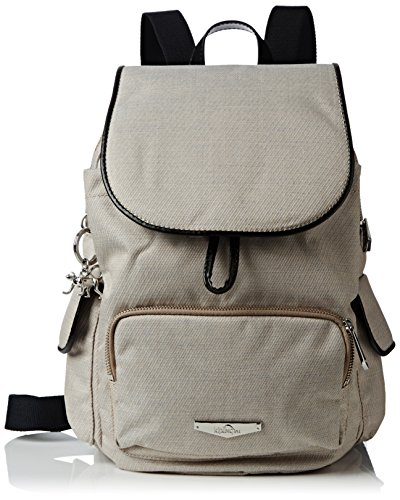 Backpack Womens Pack Kipling woven Cream S Cream City Kc Woven Beige BTwqqXUd