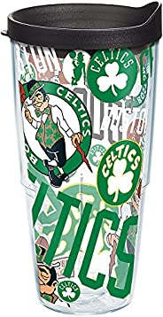 Tervis NBA Boston Celtics All Over Tumbler with Wrap and Black Lid 24oz, Clear