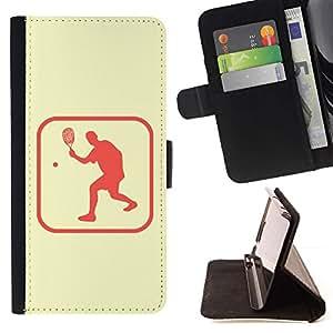 Momo Phone Case / Flip Funda de Cuero Case Cover - Tenis Deporte Estilo de vida saludable Símbolo rosado de sesión - LG G3