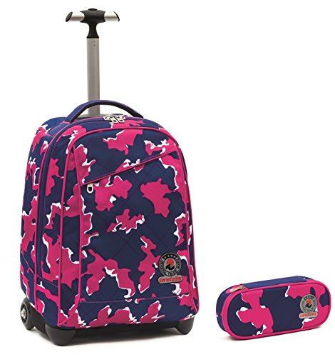 7887e8c394 TROLLEY INVICTA + PORTAPENNE – Rosa Camouflage – spallacci a ...
