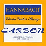 Hannabach Strings for classic guitar CARBON Medium/High tension Discant E1 single string