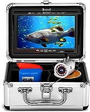 Eyoyo Fishing Camera Video Fish Finder 7 inch LCD Monitor 1000TVL Camera 12pcs IR LED DVR+8GB with 30m Cable f