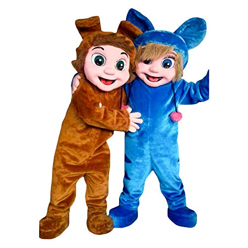Dave and Ava Nursery Rhymes Characters Mascots Costumes Cosplay Brown, -