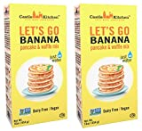 Banana Pancake Mix - Let's Go Banana Dairy-Free, Vegan Complete Pancake & Waffle Mix - Just Add Water - 16 oz (Pack of 2)