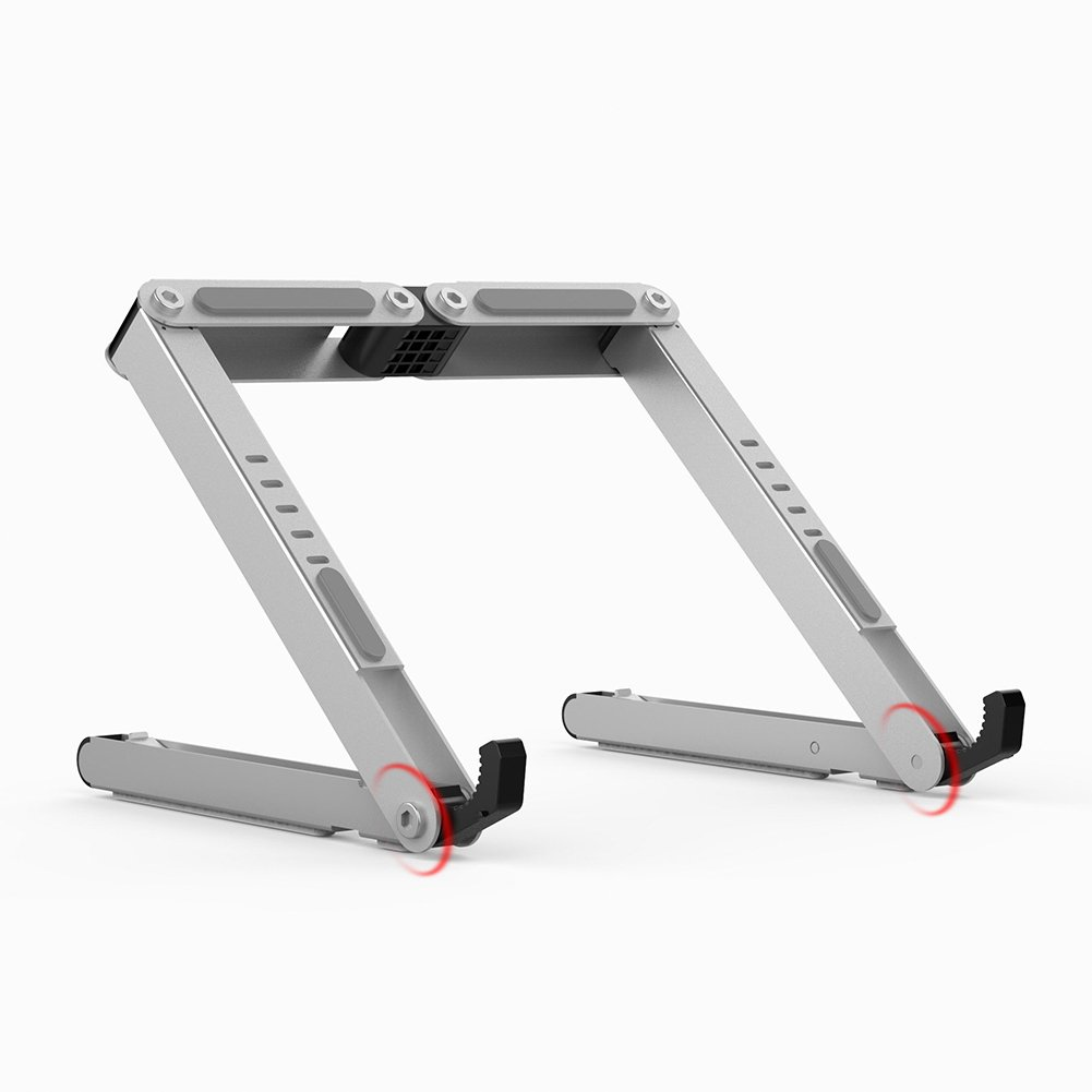 BUBM Adjustable Laptop Cooling Stand for Apple MacBook, Air, Pro, Dell XPS, HP, Silver (DNZJ-02)