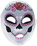 """Mask-It 48009 Mask-It (Mau63) Mask-It White Day of The Dead Full Mask 8.75"""" , 1Pc"""