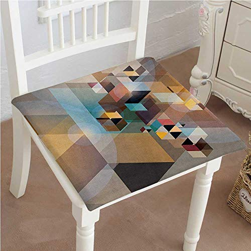 Cushion New Abstract Geometric Triangle and Diagonal Imagery Perspectived Retro Design Multi Indoor Garden Patio Home Kitchen Office Chair Pads Seat Pads 24