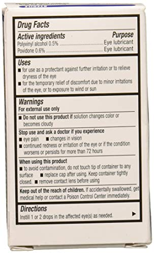 Artificial Tears Lubricant Eye Drops 15 ml (Pack of 2)