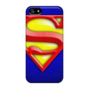 Snap-on Case Designed For Iphone 5/5s- Superman Textured
