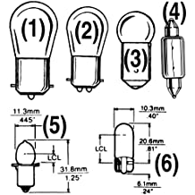 Sea Dog 441004-1 12V Double Contact Bayonet Base Light Bulb, 12W/.94A