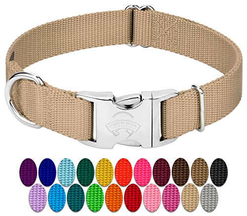 Premium Nylon Dog Collar with Metal Buckle (Large, 1