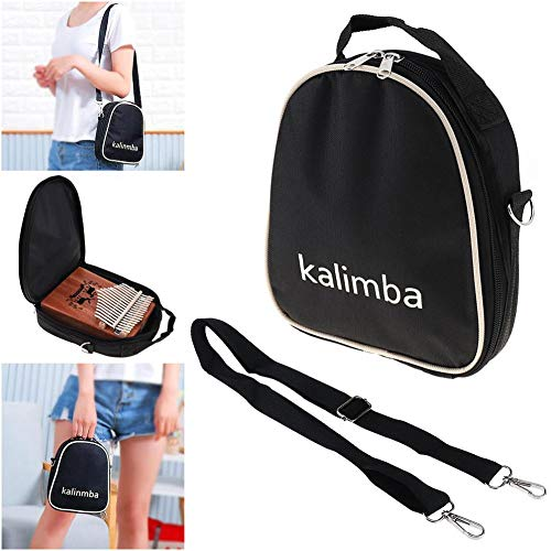Softmusic Orchestral Instrument 17/15/10 Key Universal Kalimba Storage Bag Thumb Piano Mbira Zipper Soft Case - Black