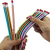 TraveT 5pcs Magic Pencil Flexible Colorful Bendy Soft Pencil for Kids Writing and Painting