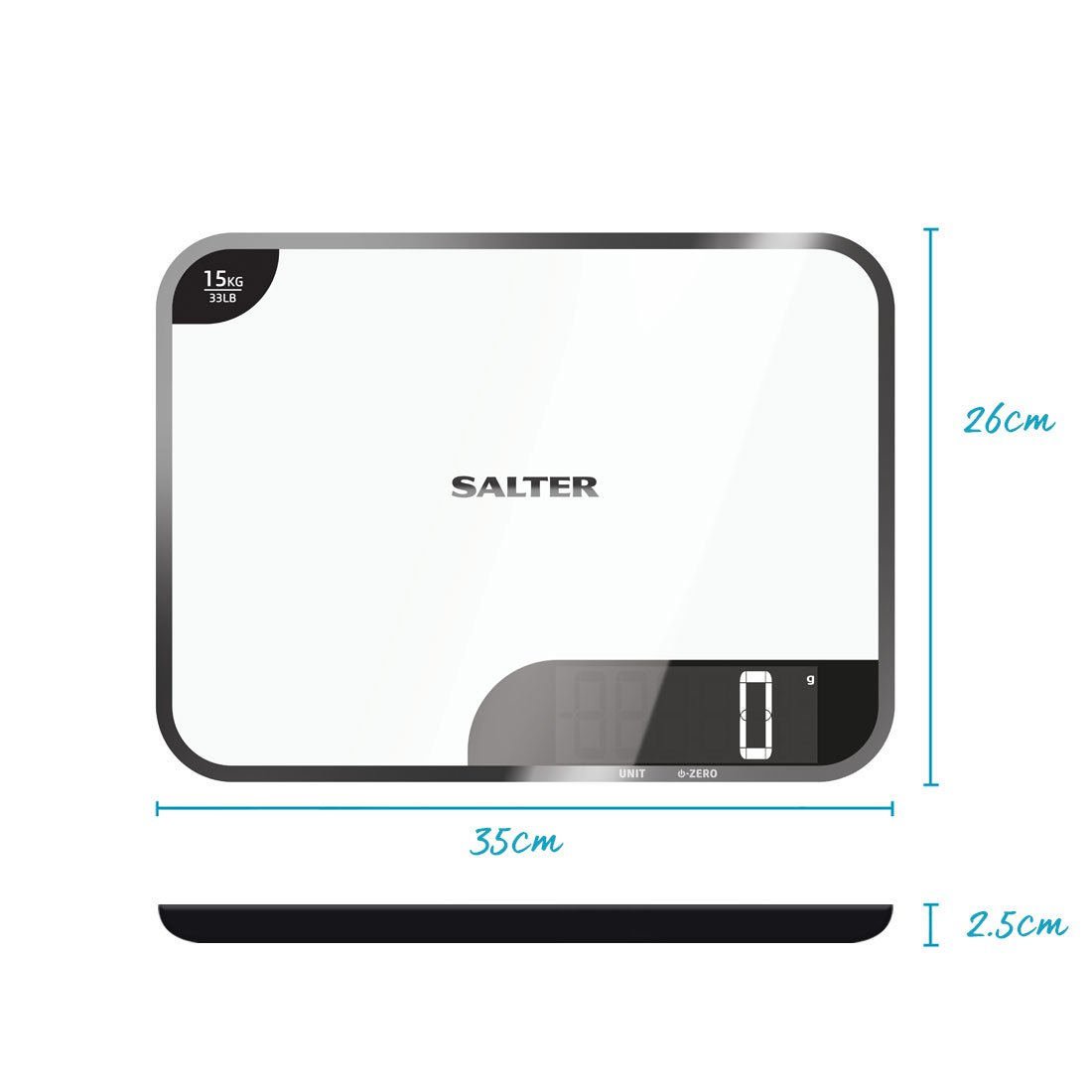 Salter Max Chopping Board Digital Kitchen Weighing Scales - Extra ...