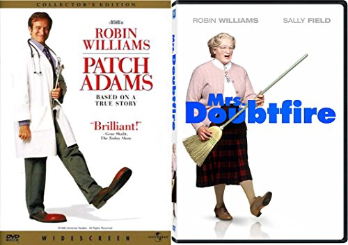 Mrs. Doubtfire & Robin Williams Set [DVD] 2 Pack Patch Adams Double Feature Movie Set