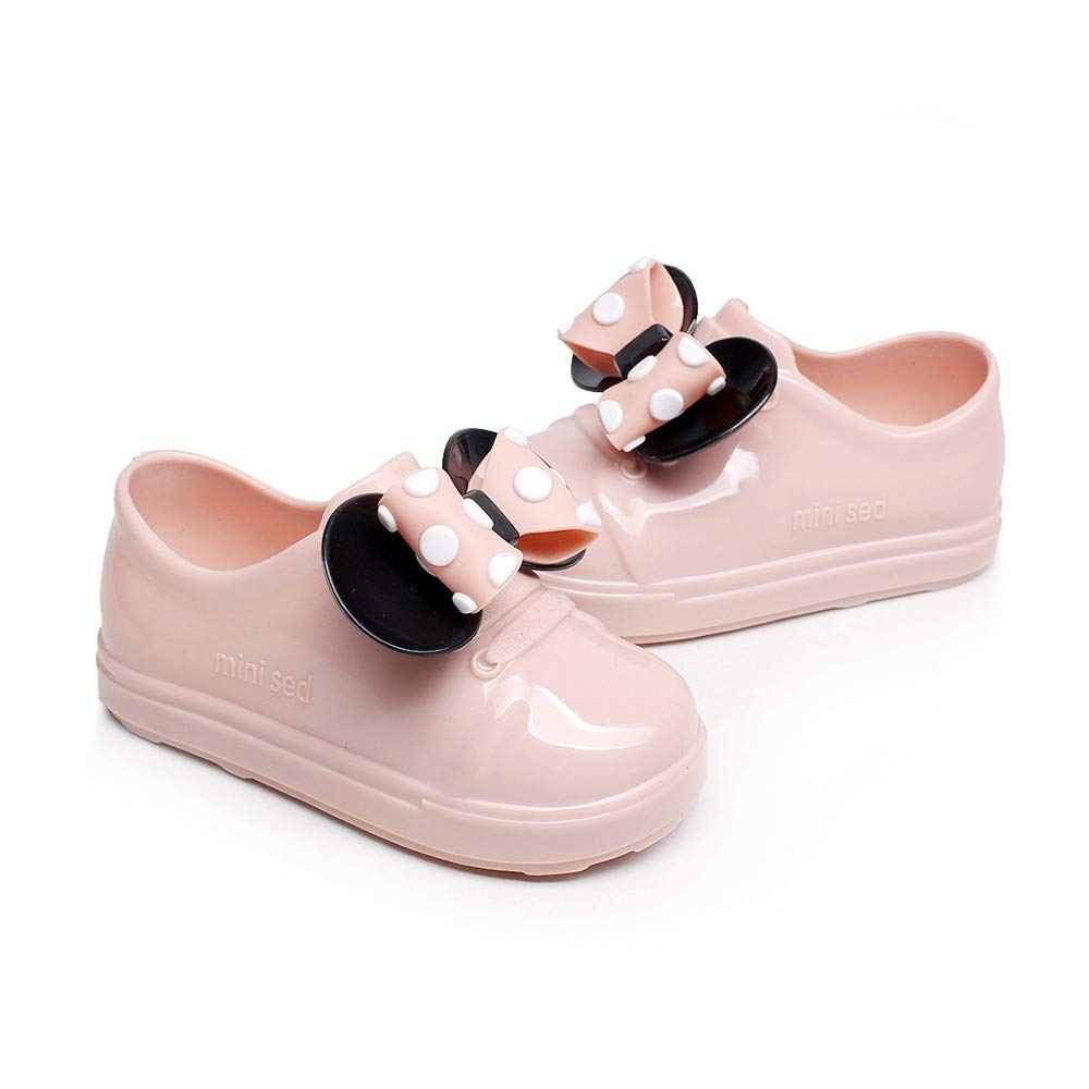 Infant Dot Bowknot Rubber Rain Boots Boy Girl Children Waterproof Rain Shoes P