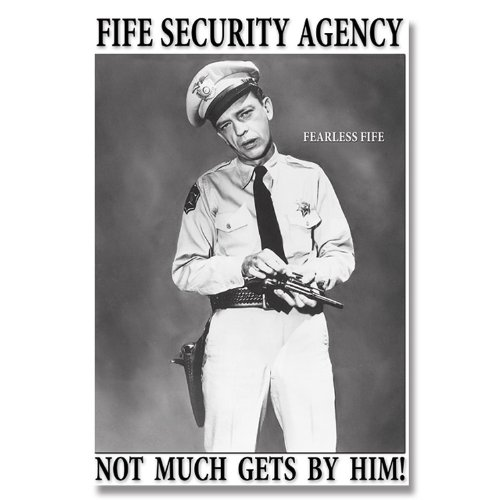 Griffith Fife Security Agency Tin Sign 13 x 16in (Andy Tin)