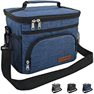 Insulated Lunch Bag for Women/Men-Reusable Lunch Box for School Office Picnic Hiking Beach - Leakproof 12-Can