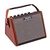 Muslady AROMA AG-15A 15W Portable Acoustic Guitar Amplifier Amp BT Speaker Built-in Rechargeable