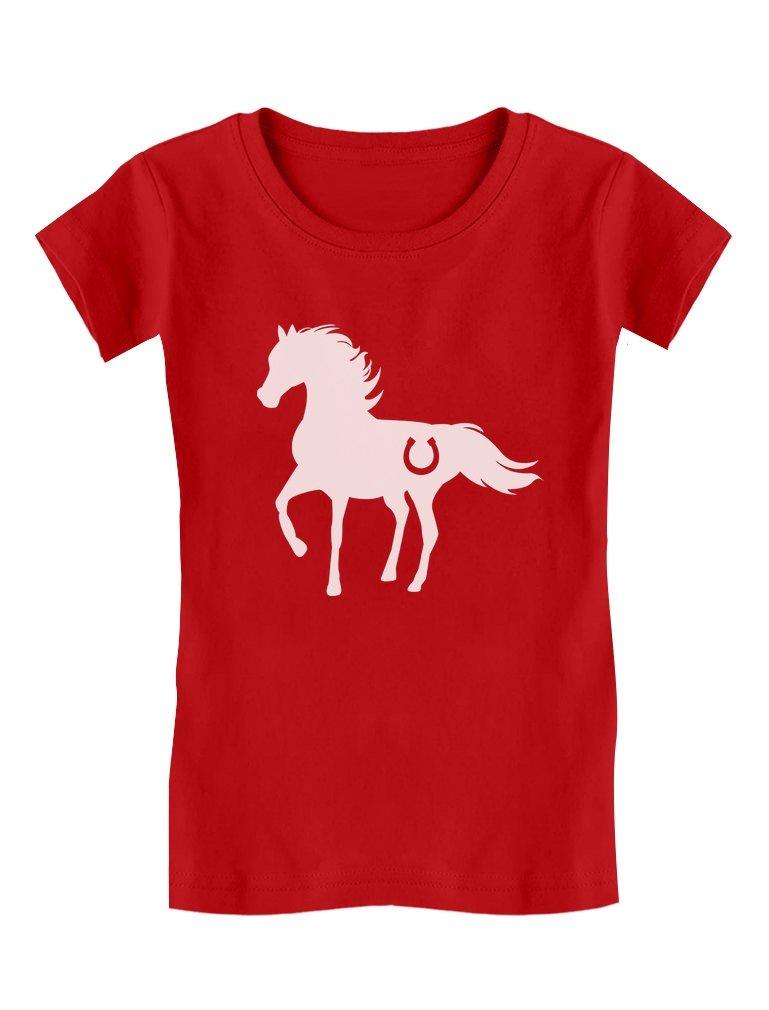 Tstars - Gift for Horse Lover - Love Horses Girls' Fitted Kids T-Shirt GM0PMZlgwm