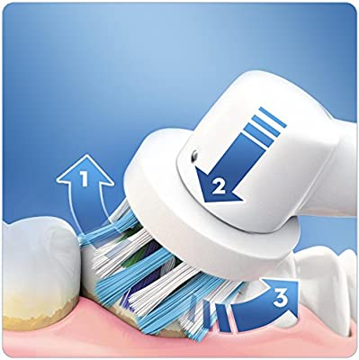 Oral-B Pro 2 2000S - Cepillo de dientes eléctrico Sensi Ultrathin, blanco/negro