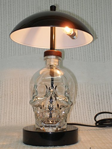 Crystal Head Vodka Glass Skull Face Decanter Bottle Touch Desk - Vodka Lamp