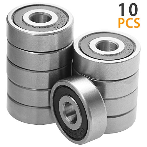 (625-2rs Ball Bearing, 10 Pcs Abuff High Speed Mini Precision 625-2rs Bearings with Double Seal and)