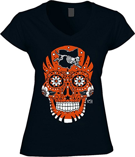 America's Finest Apparel Cincinnati Sugar Skull - Women's (xl) Cincinnati Sugar