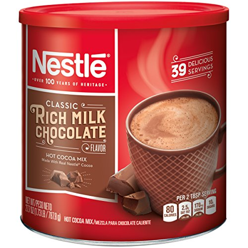 Chocolate Milk Cocoa Powder (Nestle Hot Cocoa Mix, Rich Milk Chocolate (39 Servings), 27.7-Ounce Canisters (Pack of 3))