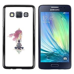 KLONGSHOP // Cubierta de piel con cierre a presión Shell trasero duro de goma Protección Caso - Yoga Maestro - Samsung Galaxy A3 //