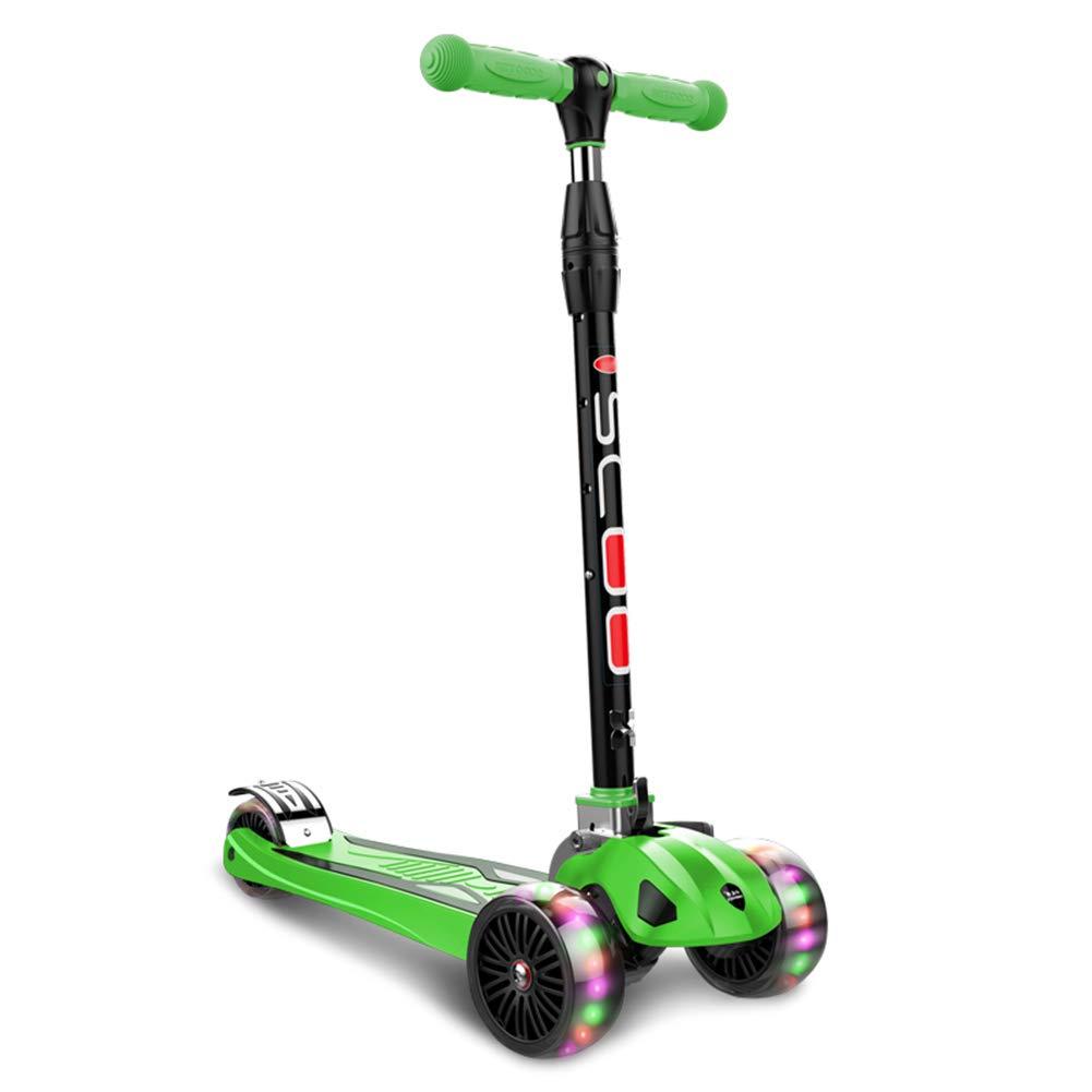 【2019正規激安】 キックスクーター三輪車スケートボードペダル式乗用スタントスクーター最初のスクーター折りたたみTバーハンドル調節可能なLEDライトアップホイール付き B07H84YFJC B07H84YFJC Green Green, WEDNESCO.,LTD:2828991c --- a0267596.xsph.ru