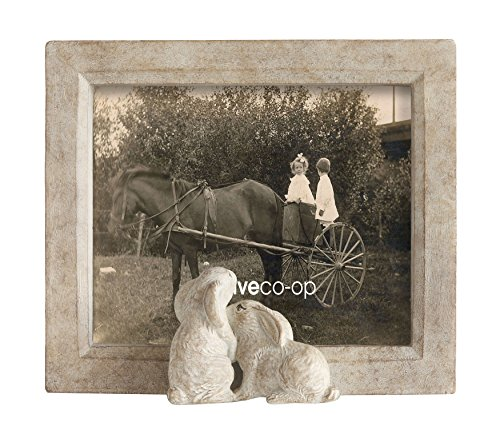 - Creative Co-Op 6-inch-by-7-inch Resin Framed Photo Frame with Rabbits, Sand